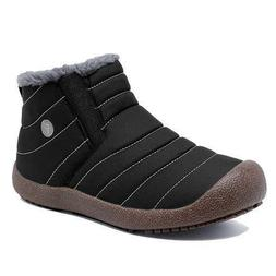 Winter Snow Boots Slip-on Water Resistant Booties for Men Wo