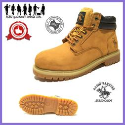 Winter Snow Work Boots Mens Work Shoes Genuine Leather Water