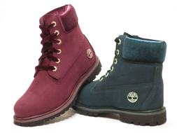 Timberland Woman's Velvet Accent 6 Inch Premium Boots Green