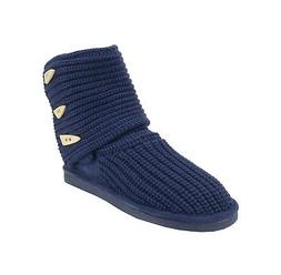 women boots shoes knit tall indigo light