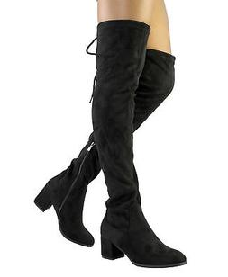 DREAM PAIRS Women LAURENCE Over The Knee Thigh High Zipper L