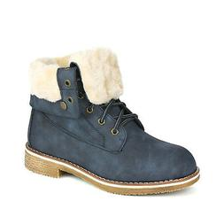 DREAM PAIRS Women MONTREAL Lace Up PU Mid Calf Winter Snow A