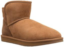 206 Collective Women's Bellevue Shearling Ankle Boot, Chestn