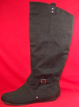 Women's RAMPAGE BILLER Black Knee High Pull On Casual/Dress