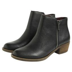 Kensie Women's Black Leather Ghita Short Ankle Boots PICK SI