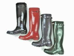 Women's Hunter Boots size 8 Gloss black, military red, hunte