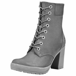 Timberland Women's Camdale 6 inch High Heel Gray Leather Boo