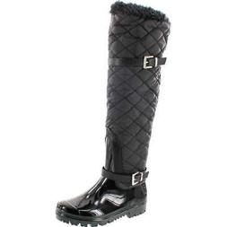 Forever Link Women's CARRIE-66 Motorcyle Quilted Buckle Boot