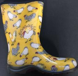 Sloggers-Women's Chicken Print Collection Garden Boots,Size