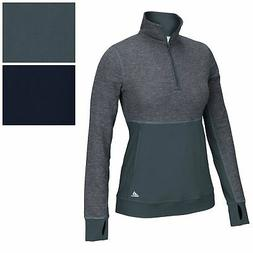 adidas Women's CLIMALITE Twist 1/2 Zip Pullover Tee Athletic