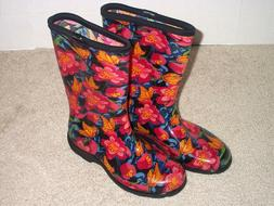 Sloggers Women's Garden and Rain Boots Floral Size 7 Mid Cal