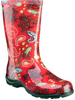 SLOGGERS Rain & Garden Boot - Paisley Red  - FAST SHIPPING!