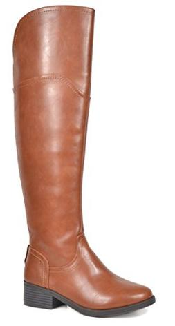 TOETOS Women's Hope Tan Over The Knee Riding Boots Size 9.5