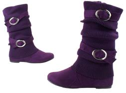 Top Moda Women's House-42 Sweater Boots with Buckles