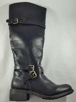 Women's RAMPAGE IZABELLA Knee High Pull On w/Ankle Zip Ridin