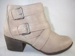 RAMPAGE Juliet Women's Ankle Boots Beige Booties Strappy Zip