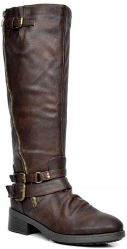DREAM PAIRS Women's Knee High and up Riding Boots Wide-Calf