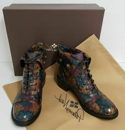women s leather boots lia bootie floral