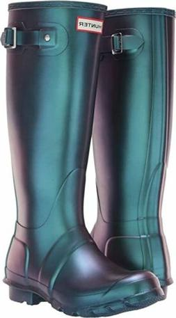 Hunter Women's Original Nebula Shiny Tall Rain Boot Rubber V