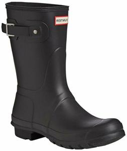 Hunter Women's Original Short Rain Boot, Black Matte