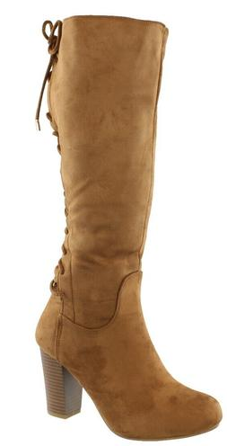 TOP MODA WOMEN'S SOPHIE-30 LACE UP MID-CALF BOOTS