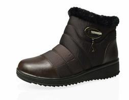 Women's Winter Boots Sneakers Ankle Top Snow Fur Faux Warm I