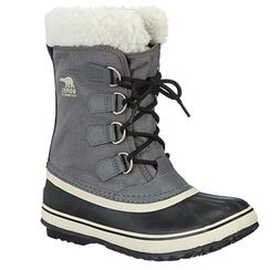 SOREL Women's Winter Carnival Pewter/Black/Gray Snow Boots W