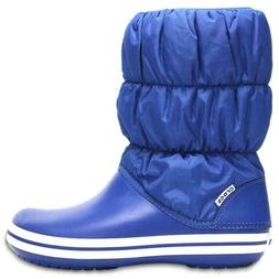 Women's Crocs Winter Puff Boot Shoes Comfort ~ NEW ~ Royal B
