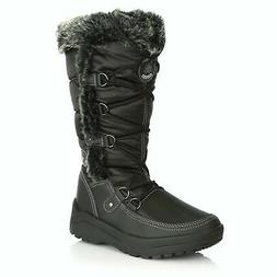 DailyShoes Women's Woman's Knee High Up Warm Fur Water Resis