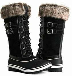 Women Winter Rain Snow Boots Size 5.5  Fur lined Collar Ital