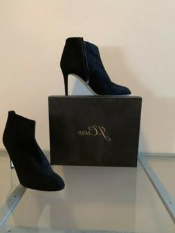 J Crew Womens Black Suede Ankle Boots Size 11