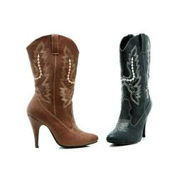 Womens Cowboy Boots High Heel Adult Cowgirl Western Costume