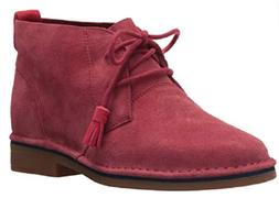 Hush Puppies Womens Cyra Catelyn Boots Dark Red Suede 5490-6