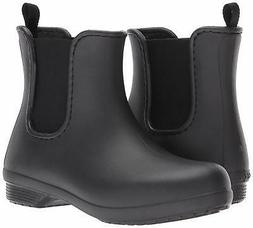 Crocs Womens Freesail Round Toe Ankle Chelsea Boots, Black/B