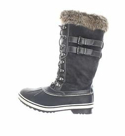 Global Win Womens Gray Snow Boots Size 9.5