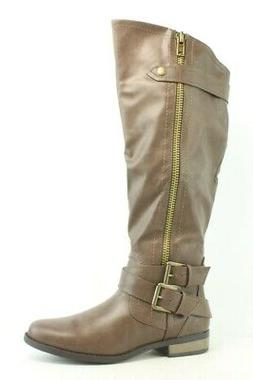 Rampage Womens Hansel Brown Smooth Riding Boots Size 6.5
