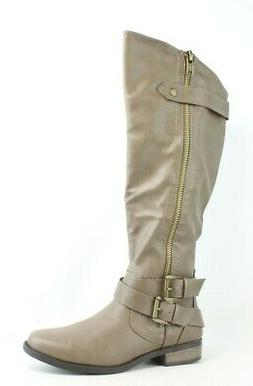 Rampage Womens Hansel Taupe Smooth Riding Boots Size 6.5