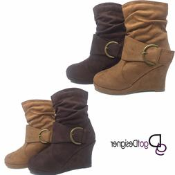 Womens High Heels Booties Ankle Boots Lace Up fashion low Sh