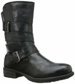 Rampage Womens Islet Closed Toe Mid-Calf Fashion Boots, Blac