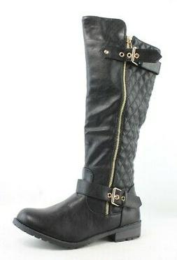Forever Womens Mango Black Riding Boots Size 7
