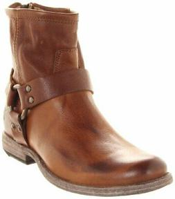 FRYE Womens phillip Leather Almond Toe Ankle Cowboy Boots, B