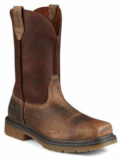 Ariat Work Boots Mens Steel Toe Rambler Western Earth Brown