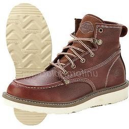 Dickies Work Boots Mens Trader Work Boots Soft Toe Brown Lea