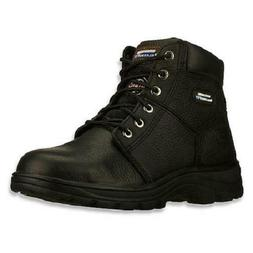 Skechers Workshire Men's Work Boots Black Steel Safety Toe S